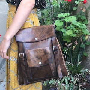 Handbags - Tool made distressed leather bag
